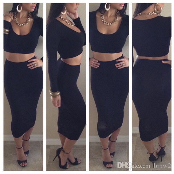 Discount 2016 Fashion Novelty Bodycon High Waist Dress Set T6259 ...