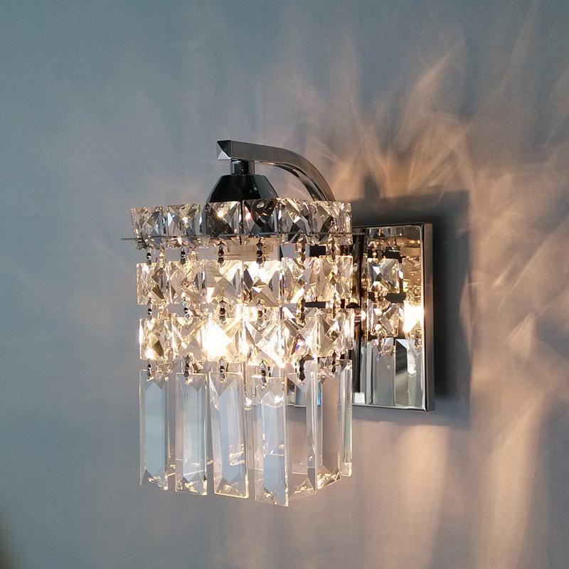 Crystal Torch Bedroom Wall Lamp Bathroom Mirror Front Wall: 2019 Crystal Wall Lamps Modern Bedroom Bedside Lamp