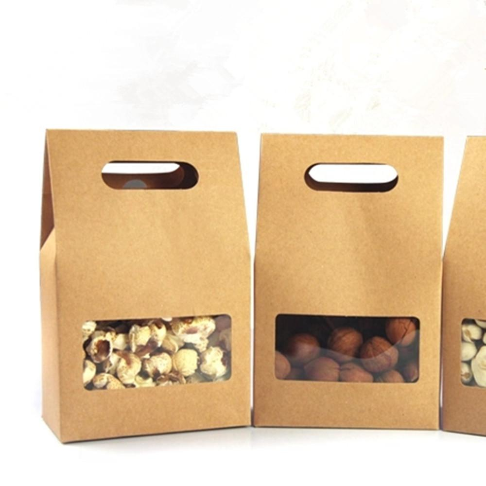 10 5 15 6cm Kraft Paper Tote Bag Gift Packing Box With