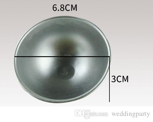 O envio gratuito de ferramenta de padeiro liga de alumínio 3d bola esfera banho bomba molde bolo assando molde de pastelaria