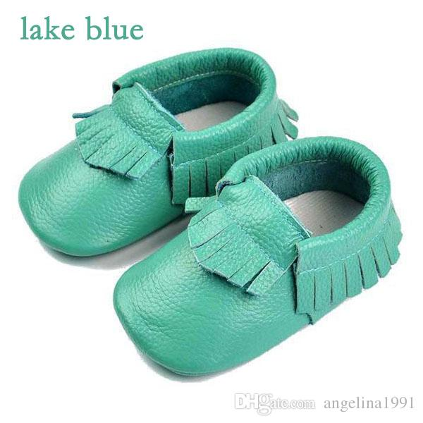 Baby kids Slip-On shoes booties Boys Girls genuine leather tassel moccasins soft leather baby first walker shoes high quality