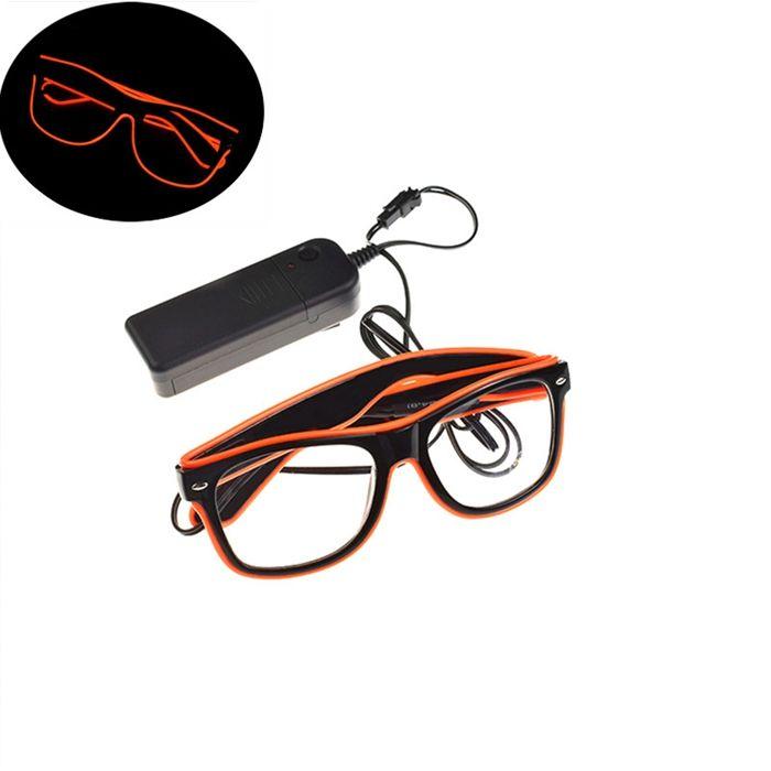 LED Party Glasses Fashion EL Wire Glasses Luminous Glasses Eyewear Birthday Christmas Party Bar Decor Supplies YW233