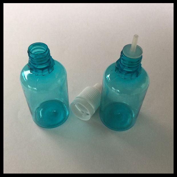 Garrafa azul do frasco líquido do Cig do ANIMAL DE ESTIMAÇÃO 30ml E com o tampão inviolável da calcadeira e a garrafa fina longa do conta-gotas da ponta para Ejuice