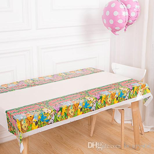 color birthday party table cloth disposable waterproof oilproof dining picnic table cover festive decoration for sale kids party supplies online kids party