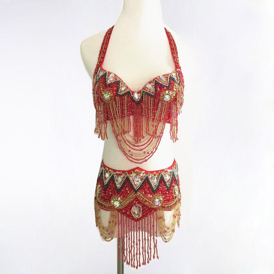 2017 6 Colour Oriental Belly Dance Costume Suit Bra Belt Hip Scarf Bollywood Carnival 34b/c 36b/c 38b/c