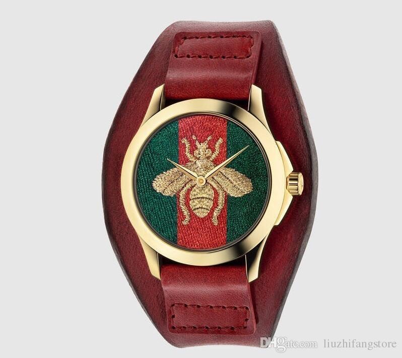 Montres-cadeaux pour dames de montres-bracelets en cuir de marque de montres de marque de montre à quartz de montre-bracelet féminine Montres Femmes