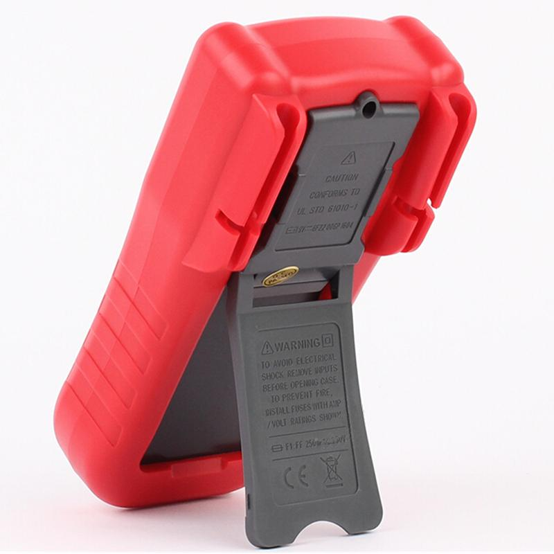 Red Digital Amperímetro voltímetro Multímetro DMM DC Tensão AC Current Meter Tester Diodo Capacitância hFE Teste Multimetro SNT18A