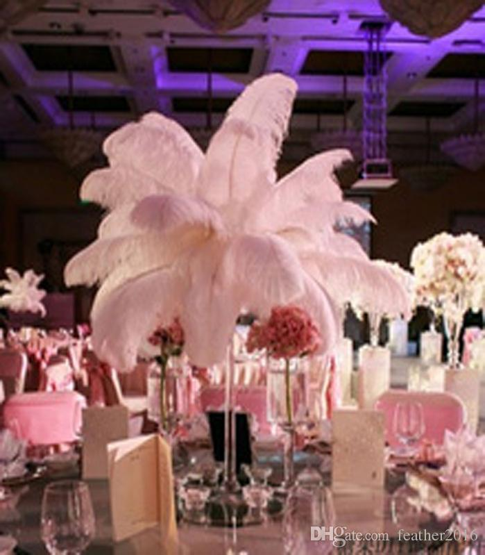 12 14inch White Ostrich Feathers Plumes Wedding Centerpiece
