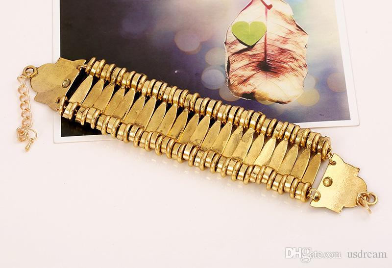 polsini della moneta della nappa della Boemia dei retro polsini antichi della catena di collegamento dell'argento dell'oro polsini delle donne della Boemia dei monili di dichiarazione le donne 160348