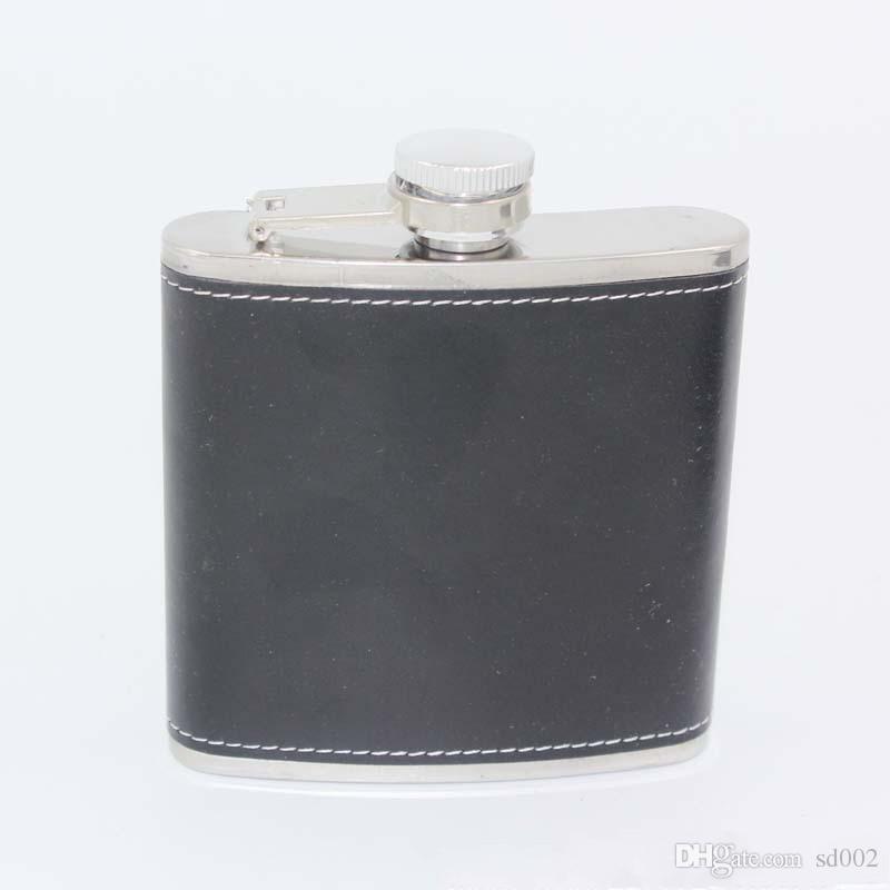Whiskey Whiskey Flagon Leak Proof 6oz Frascos de acero inoxidable para la cadera Portable Wine Pot al aire libre 7 35ls C R