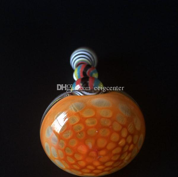 2015 New style Smoking pipes heady glass pipes 5 inches colorful thick glass for tobacco hand bongs