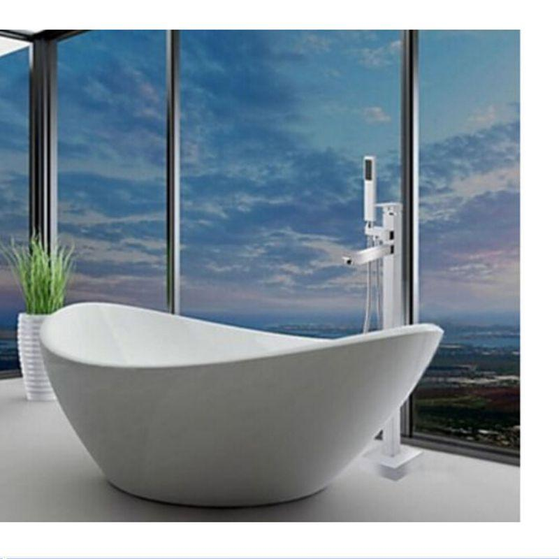 2018 Wholesale And Retail Square Floor Mounted Tub Faucet Tub Filler ...
