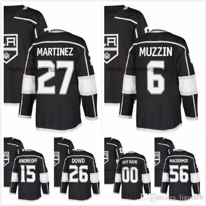 new concept da78b 586f7 Alec Martinez Jersey 27 Jake Muzzin 6 Andy Andreoff 15 Nic Dowd 26 Kurtis  MacDermid 56 Mens Ice Hockey Jerseys 2018AD LA Kings S-3XL