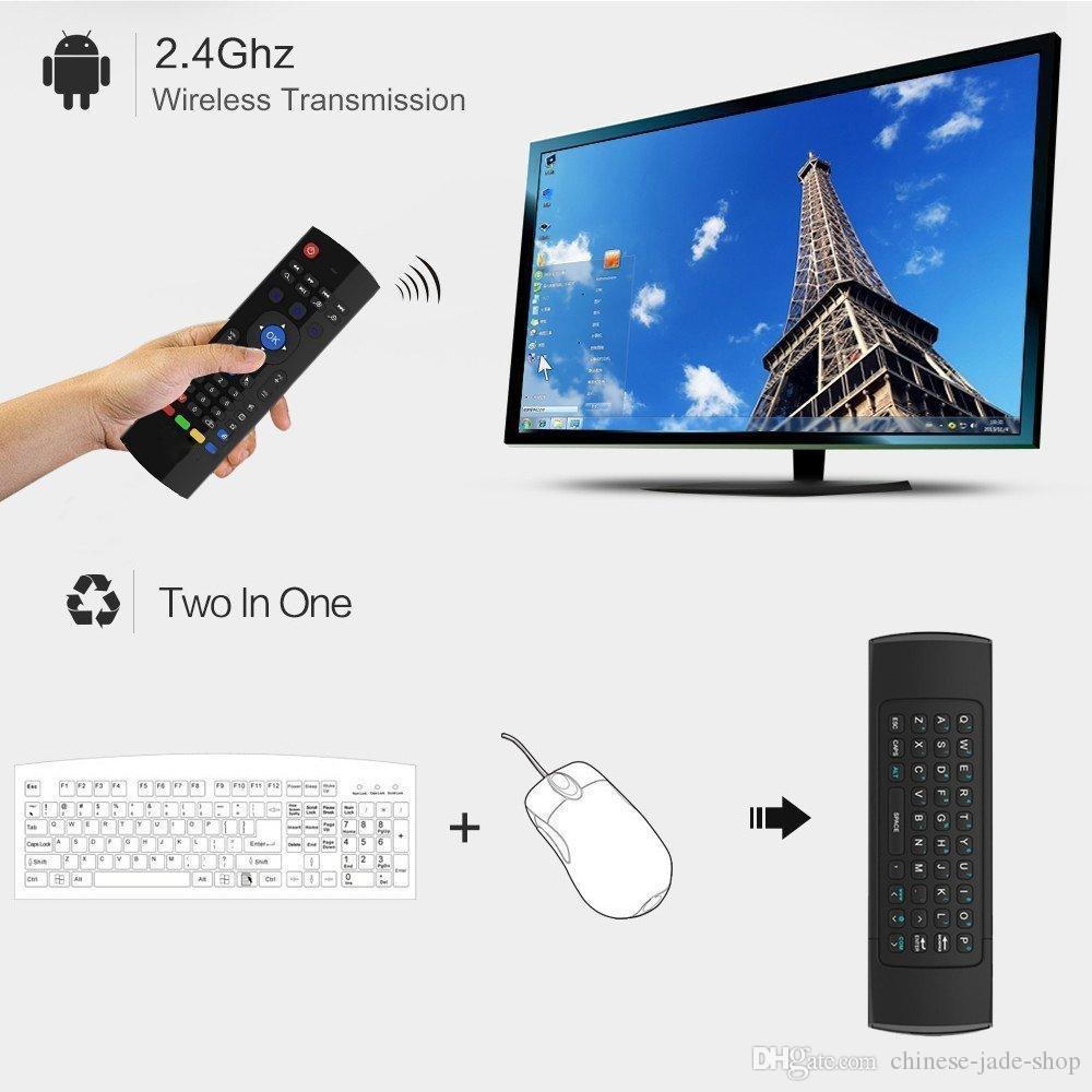 2,4 GHz Wireless-Tastatur MX3 IR-Lern-Modus Fly Air Mouse Fernbedienung für Android Smart TV Box /