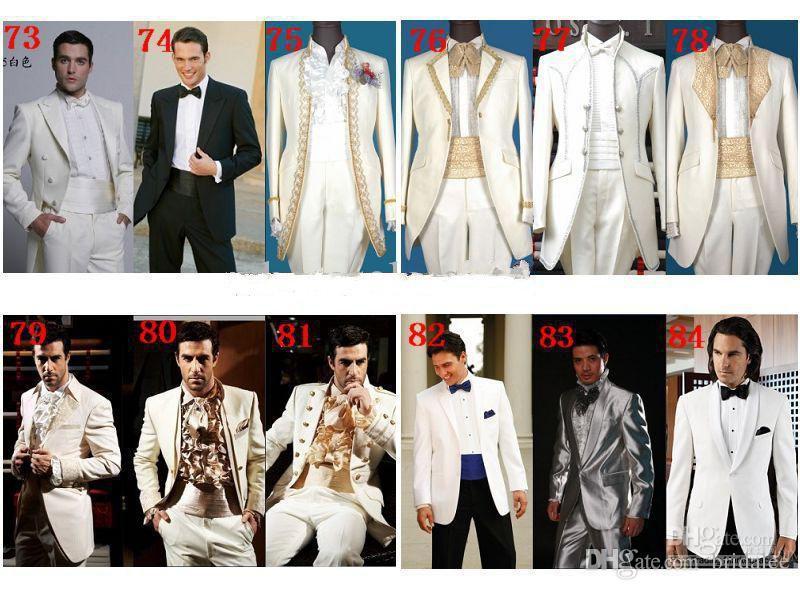 2016 Custom Design Two Buttons Red Groom Tuxedos Black Notch Lapel Groomsmen Men Wedding Suits  jacket+Pants+tie