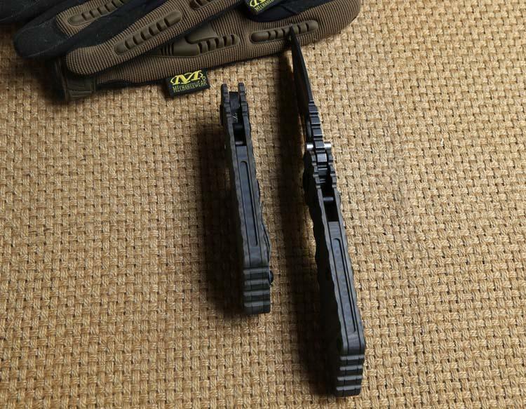 Y-START SMF Тактический складной нож Титановая ручка D2 Tanto blade Шариковый подшипник выживания на открытом воздухе ST Ножи EDC Инструменты самообороны