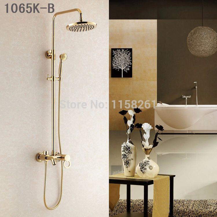 Best Shower Faucets Luxury Gold Brass Bathroom Shower Mixer Faucet ...