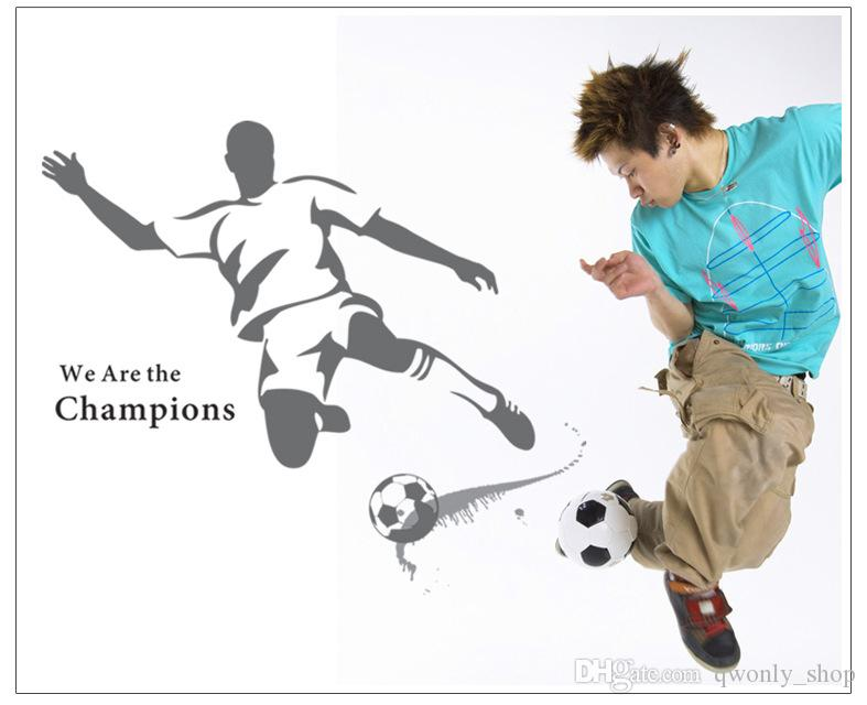 Soccer Wall Sticker Football player Decal Sports Decoration Mural for Boys Kids Bedroom Decor Wall Art Removable Decals