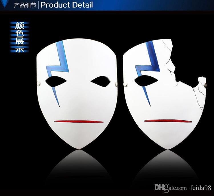 Alta calidad más oscura que las máscaras japonesas negras Cosplay Hei Lee máscaras de anime caliente nueva decoración del hogar Resina de Halloween media / máscara completa