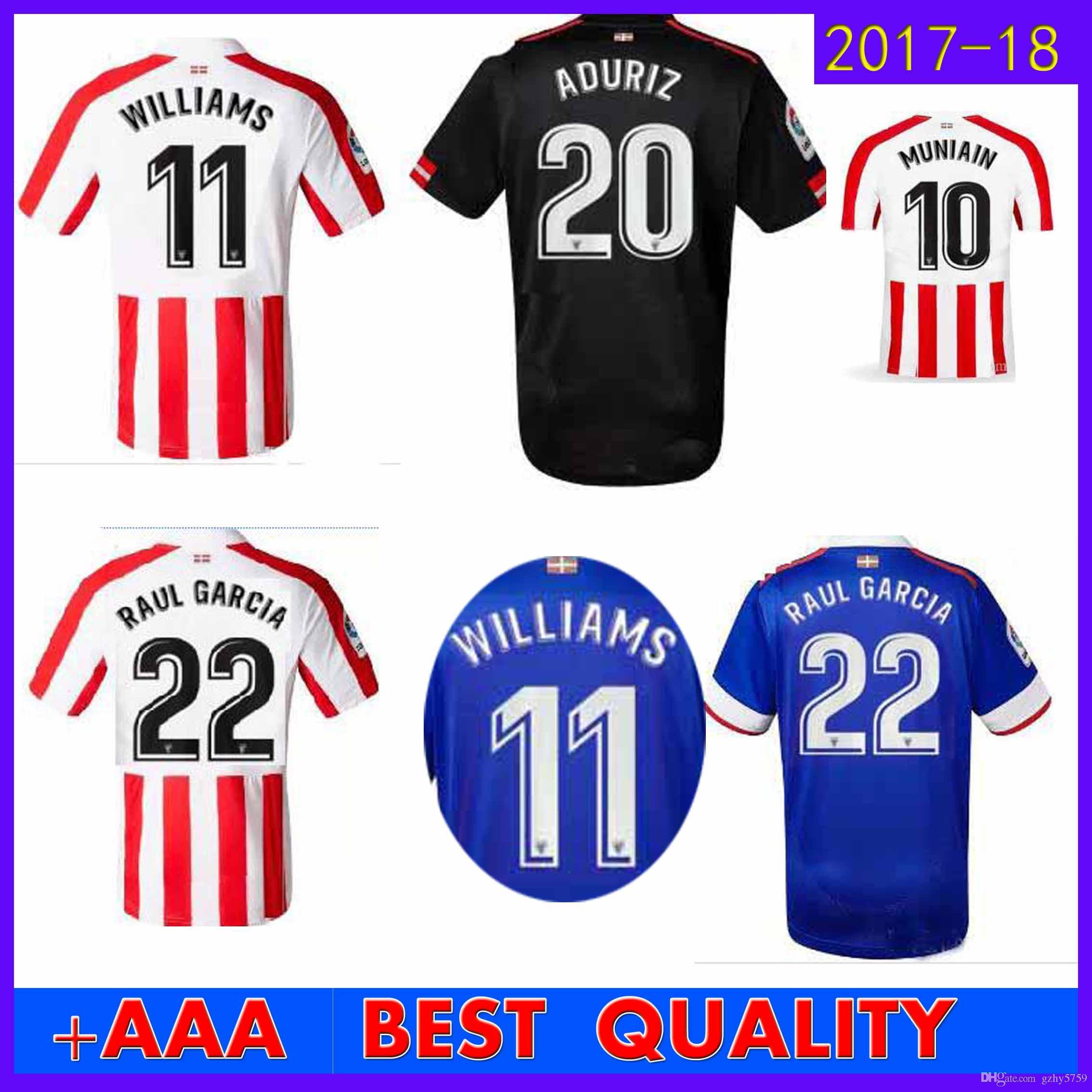 2017 2018 Athletic Bilbao Home Soccer Jersey 17 18 SUSAETA GURPEGUI MUNIAIN  Away Third Football Jerseys Shirt Best Thai Quality UK 2019 From Gzhy5759 820c369ba7ed6