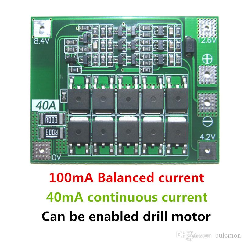 2019 3s 40a Li Ion Lithium Battery Charger Protection Board Pcb Bms