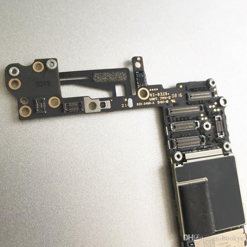 Probado Buen funcionamiento para IPhone 6 Placa base 16 GB 64 GB Lógica desbloqueada NO Touch ID 100% Buena placa de sistema de trabajo IOS mainboard