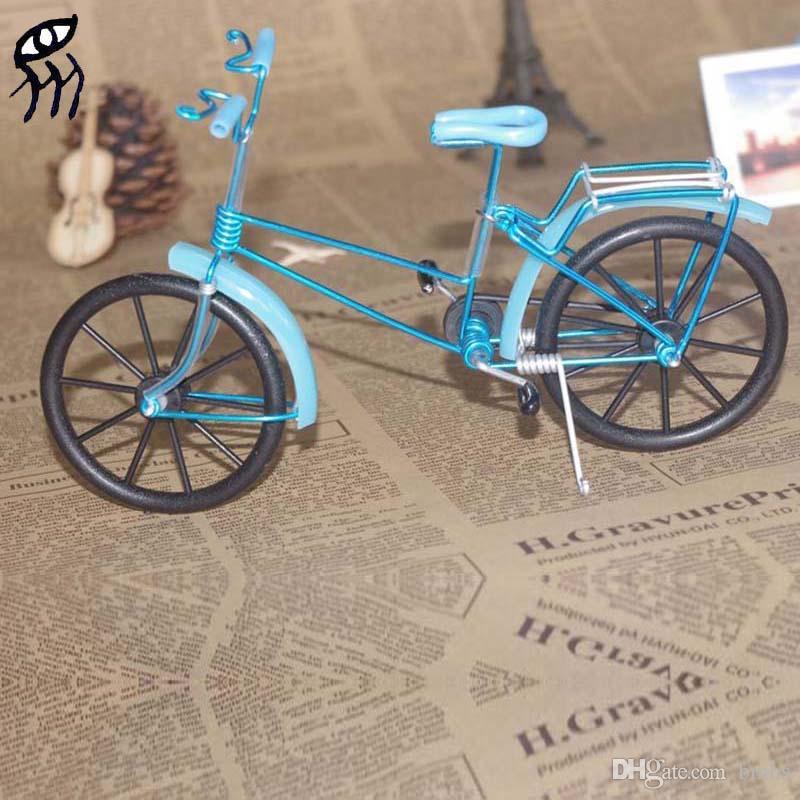 2018 Diy Model Mini Bike Blue 20 6 13cm Creative Manual Crafts