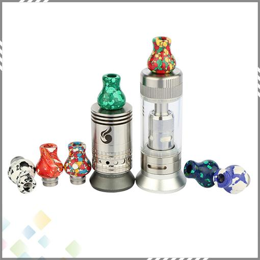 Tophus Stone Drip Tips Vase Drip Tip Beautiful Turquoise Material Fit 510 E Cigarette Atomizers RDA High quality DHL Free