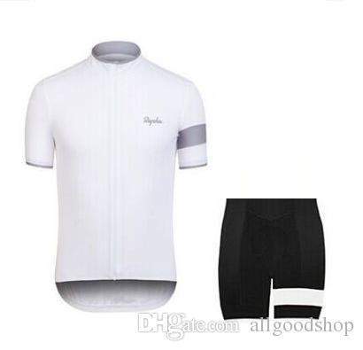 Rapha Shorts Maillots De Cyclisme Ensembles 2016 Cool Bike Suit Vélo Jersey Respirant Vélo À Manches Courtes Chemise Bib Shorts Hommes Vélo Vêtements