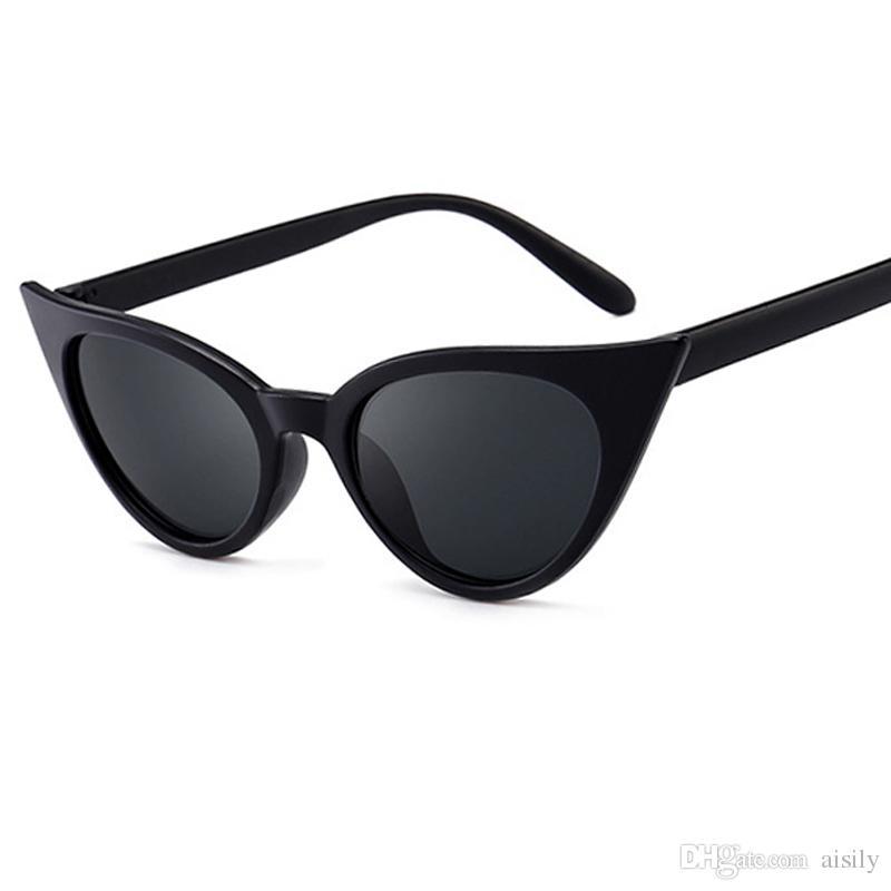 fce552c667ec7 Compre Alta Qualidade Olho De Gato Óculos De Sol Das Mulheres Designer De  Marca De Verão Pontos De Óculos De Sol Das Senhoras De Luxo Óculos De Sol  De Sol ...