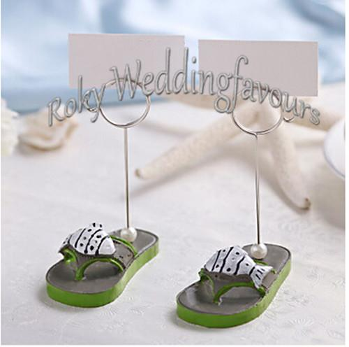 !=Nice Beachcombers Flip Flop Place Card Holder Wedding Favors Party Favors Party Decoration Gifts