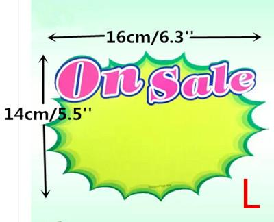 Free Shipping POP Advertising Promotion Poster Explosion Sign Paper Price Label Tag Onsale Card L In Retail Store 80pcs LGAL-004