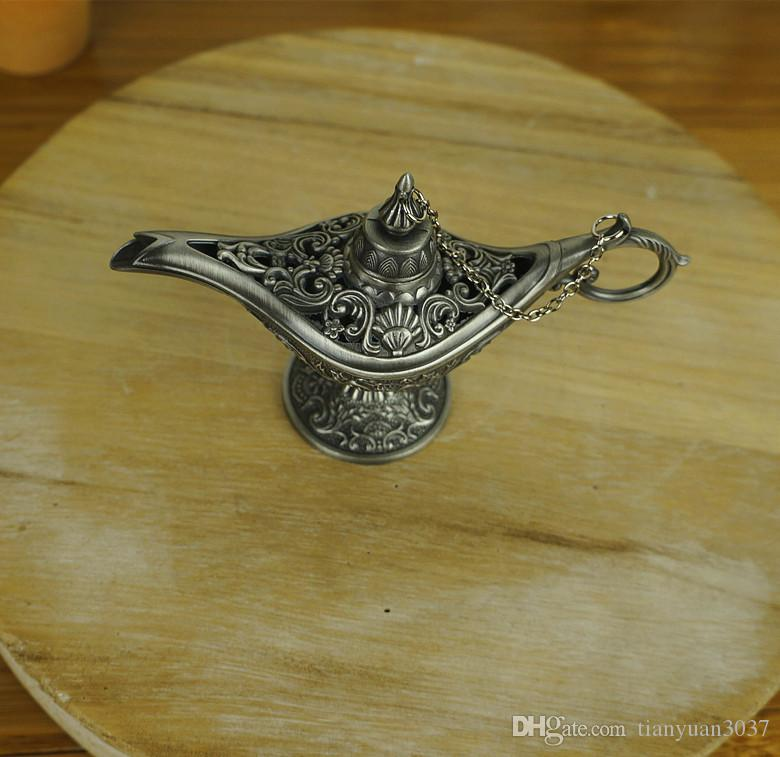 fairy tale Aladdin Magic Lamp Colored is suing Lamps Tea Pot Genie Lamp Vintage Retro toys for children Home Decoration gifts