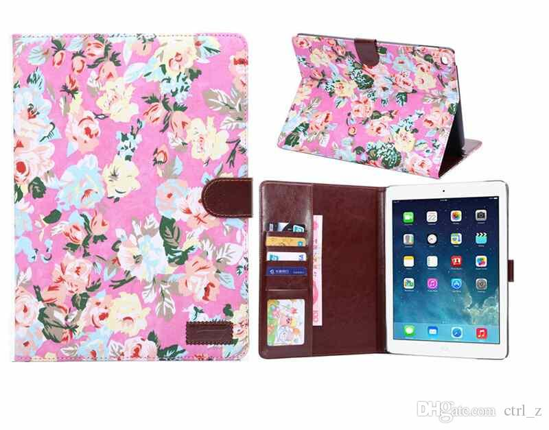 new ipad air 2 case vintage girls flower fashion pu leather case