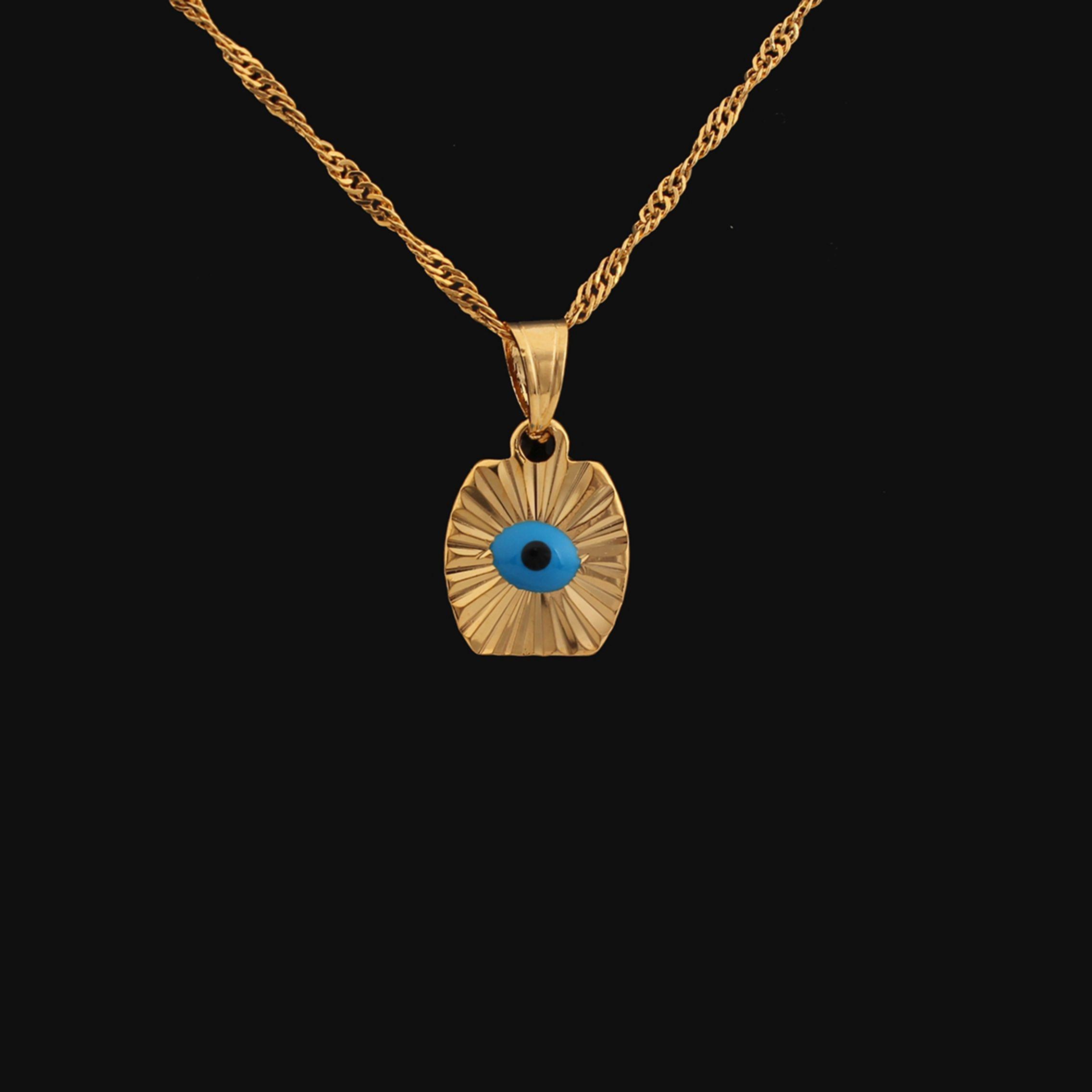 Wholesale 2015 New Vintage18k Gold Plated Blue Turkey Evil Eye