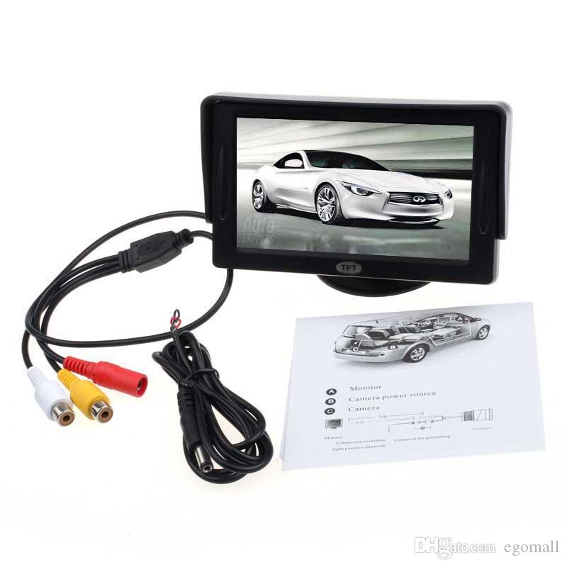 New Car 4.3' TFT LCD Color Rearview Monitor for DVD GPS Reverse Backup Camera