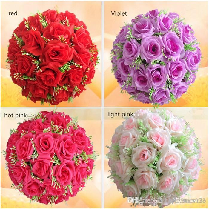 Decorative flowers wreaths wholesaler childrenhouse sells 40cm decorative flowers wreaths wholesaler childrenhouse sells 40cm silk rose pomander flower ball bridal wedding decor favor party kissing balls wedding mightylinksfo