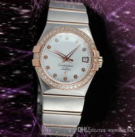 nouvelle arrivée design élégant vente professionnelle Les meilleures marques de montres en acier inoxydable de luxe montres  lunette de diamant lunette saphir blanc visages de mode montres à quartz  pour ...