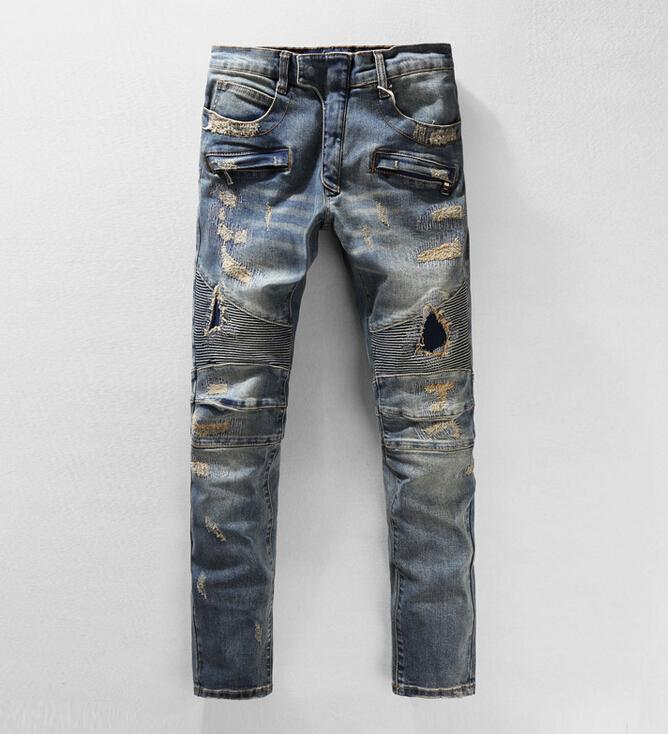 Men's Jeans Online Sale High Quality Fashion Men Holes Jeans 2017 ...