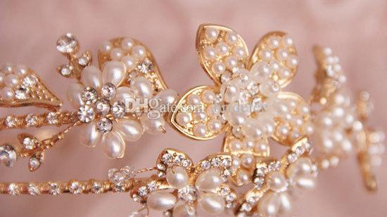 100% Handwork Hairband Princess Crystal Czech Rhinestone Romantic Wedding Headdress Bridal Headband Hairpiece Headband Accessory