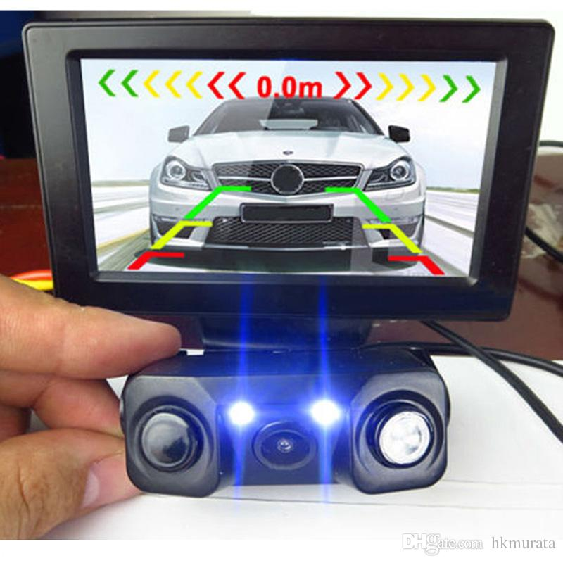 3 in1 Parking Camera Sensors Reversing Radar Car Rear View Camera Waterproof