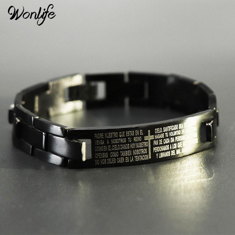 Wonlife 2017 Men's Bracelets Trendy Jesus Christian Cross