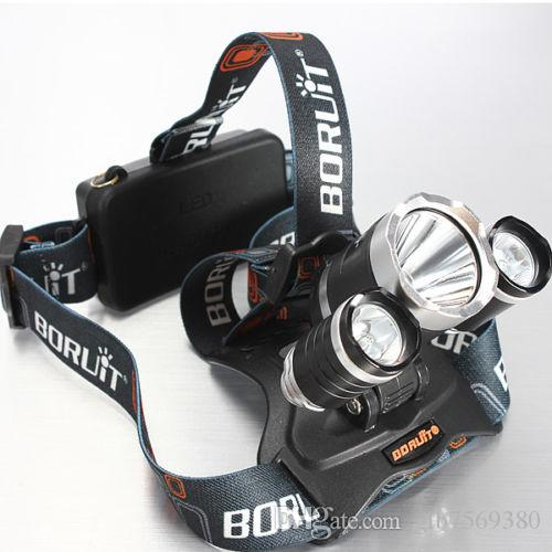 High Power 5000lum CREE XM-L 3x T6 LED Headlight Headlamp Head Lamp Light Torch Flashlight +charger+car charger