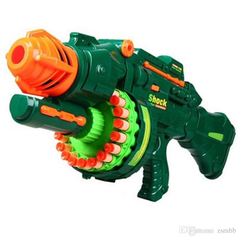 Electric Toy Gun NERF Toy Guns 20 pcs Soft Bullet Big Gun Launchers CS Outdoor Toys Kids Children's Birthday Gift