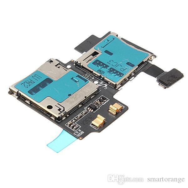 Новый низкая цена замена SIM-карты памяти держатель читателя лоток слот Flex для Samsung Galaxy S4 I9500 I9505