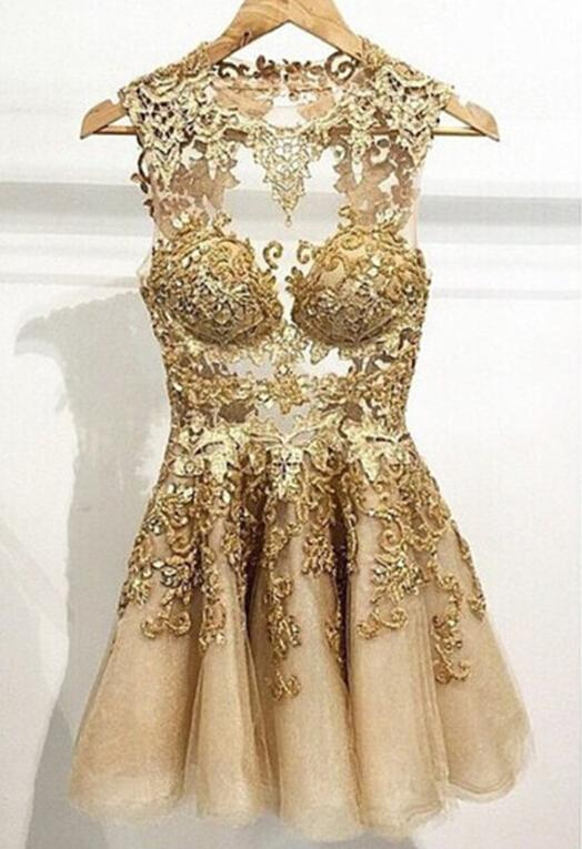 Vestido de la minnie gold