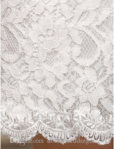 2016 New Fashion Popular Elegant Ivory/Little White Short/Mini Sweetheart Sash Lace Sheath Reception Wedding Dresses 301