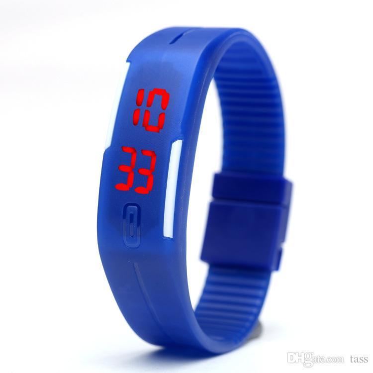 ful Waterproof Soft Led Touch Watch Jelly Candy Silicone Rubber Digital Screen Bracelet Watches Men Women Unisex Sports Wristwatch