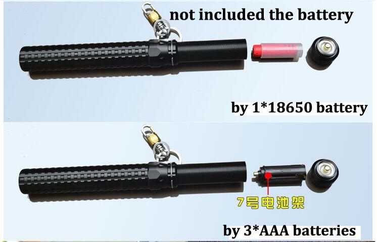 Drop shipping 2000LM Q5 Telescopic Zoom Long Tactical Self Defense LED Flashlight Torch Light Baseball Bat