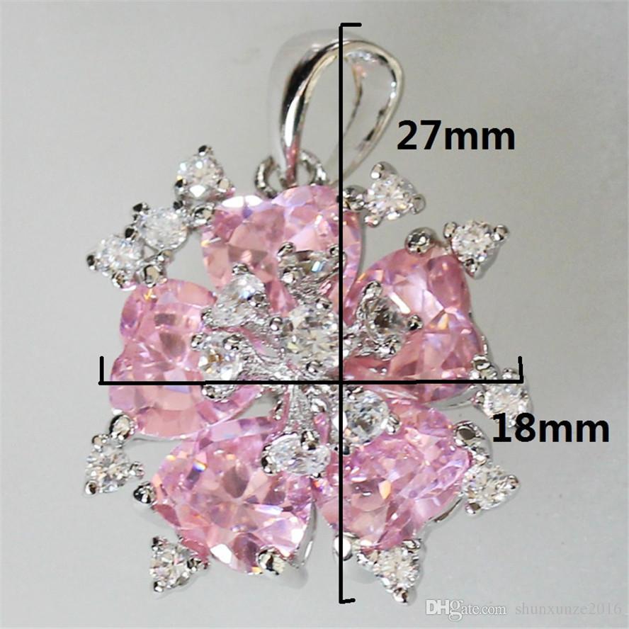 일류 제품 크리스마스 선물 귀족 관대 MN511 좋아하는 핑크 큐빅 지르코니아 도매 구리 로듐 도금 프로모션 펜던트